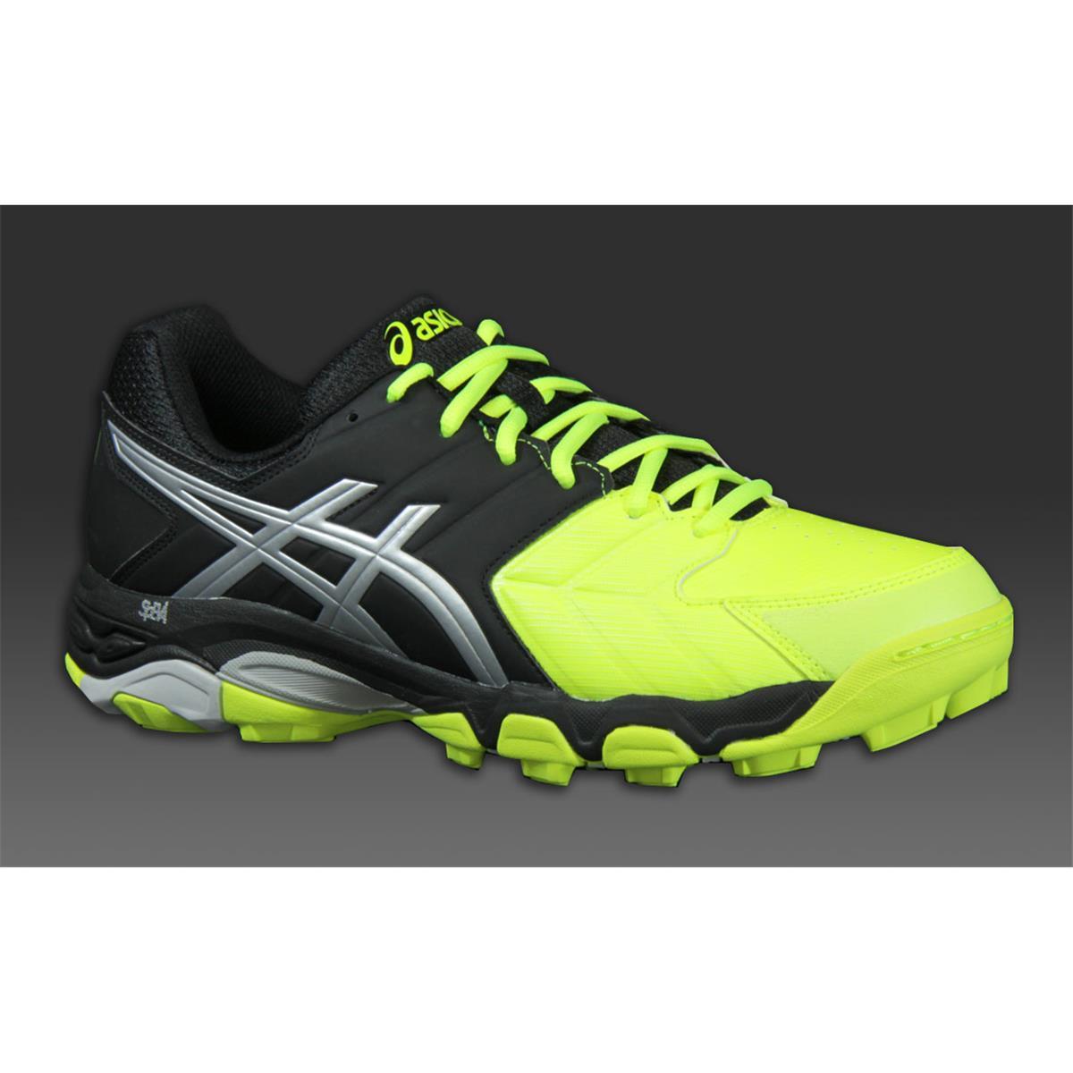 asics gel blackheath 6 mens hockey shoes yellow silver