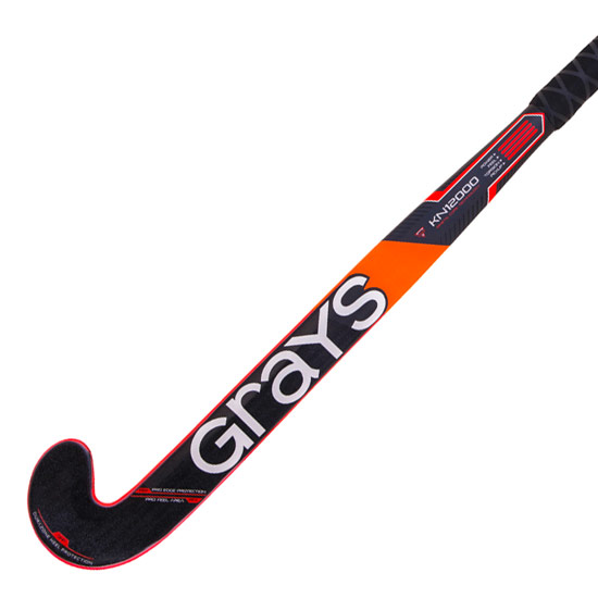 Grays KN 12000 Probow Xtreme Hockey Stick (Black-Fluo Red)