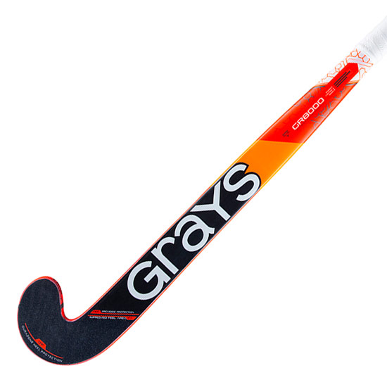 Grays GR 8000 Dynabow Hockey Stick (Fluo Red-Black)