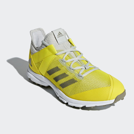 23506780a8be Adidas Zone Dox Hockey Shoes (Yellow-Trace Carbon)