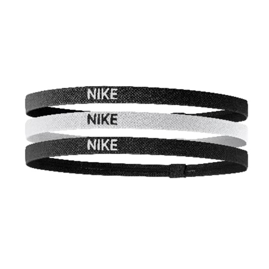 Nike Elastic Hairbands 3 Pack (Black- White- Black)