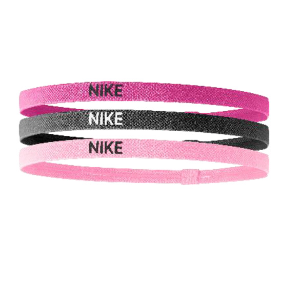 Nike Elastic Hairbands 3 Pack (Pink-Grey)