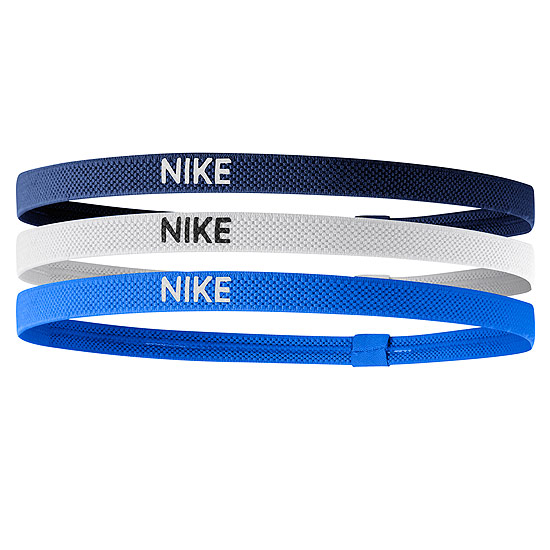 Nike Elastic Hairbands 3 Pack (Blue Void-White-Light Photo Blue)
