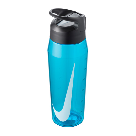 Nike TR Hypercharge Straw Waterbottle 24oz (Blue Fury-Anthracite-White)