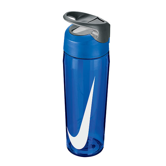 Nike TR Hypercharge Straw Waterbottle 24oz (Game Royal-Cool Grey-White)