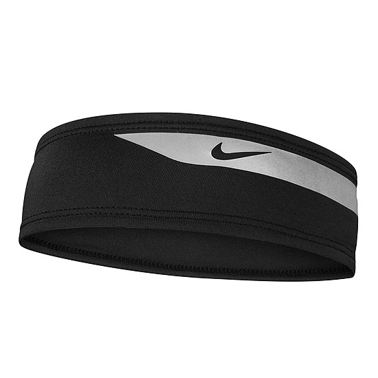 Nike Dri-Fit Flash Headband (Black- Silver)