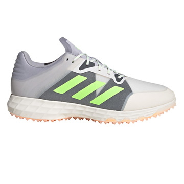 Adidas Hockey Lux 2.0 Hockey Shoes (Chalk-Grey-Green)