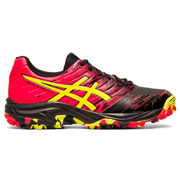 Asics Gel Blackheath 7 Womens Hockey Shoes (Black-Sour Yuzu)