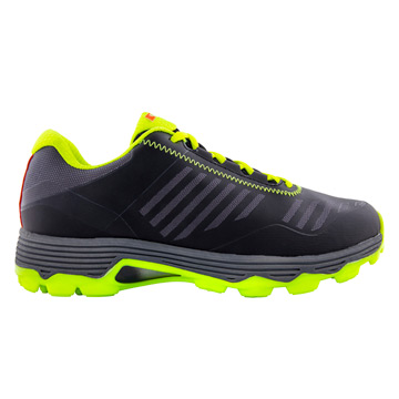 Grays Burner Mens Hockey Shoes (Black-Fluo Yellow)
